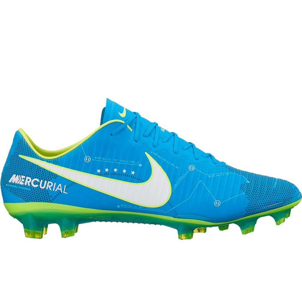 e8e2c62c41a411 Nike Mercurial Vapor XI FG Neymar Soccer Cleats (Blue Orbit White ...