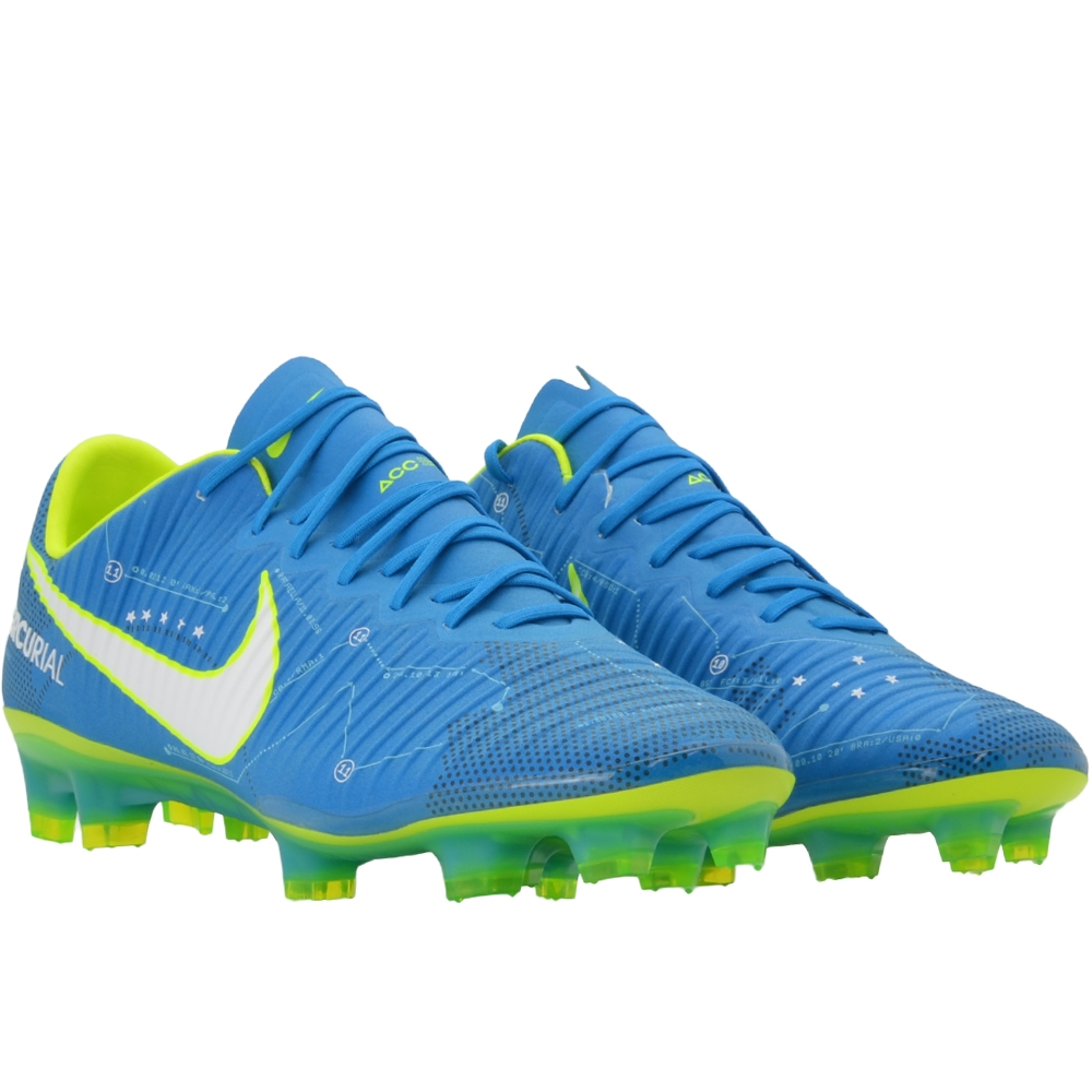5197dc88d Nike Mercurial Vapor XI FG Neymar Soccer Cleats (Blue Orbit White ...