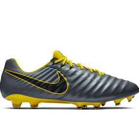 Nike Legend 7 Elite FG Soccer Cleats (Dark Grey/Opti-Yellow/Black)