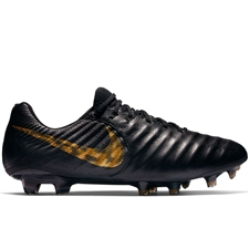 Nike Legend 7 Elite FG Soccer Cleats (Black/Metallic Vivid Gold)