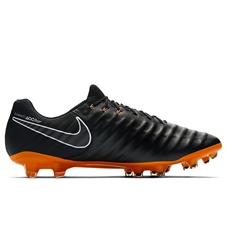 Nike Tiempo Legend VII Elite FG Soccer Cleats (Black/Total Orange/White)