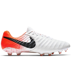 Nike Legend 7 Elite FG Soccer Cleats (White/Black/Hyper Crimson)