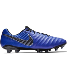Nike Legend 7 Elite FG Soccer Cleats (Racer Blue/Black/Metallic Silver)