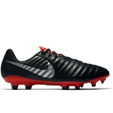 Nike Legend VII Pro FG Soccer Cleats (Black/Metallic Silver/Light Crimson)