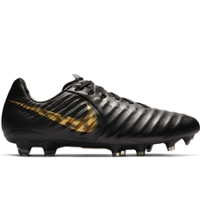 Nike Legend 7 Pro FG Soccer Cleats (Black/Metallic Vivid Gold)