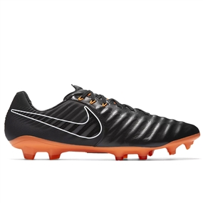 Nike Tiempo Legend VII Pro FG Soccer Cleats (Black/Total Orange/White)