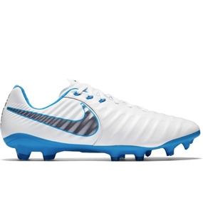 Nike Legend VII Pro FG Soccer Cleats (White/Metallic Cool Grey/Blue Hero)