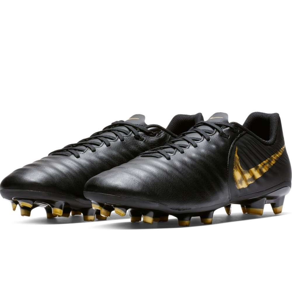 93572fd0073 Nike Legend 7 Academy FG Soccer Cleats (Black Metallic Vivid Gold ...