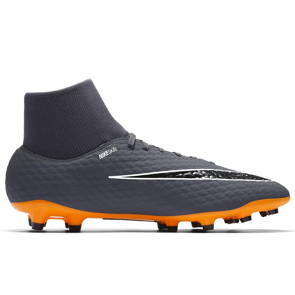 huge discount e643f 5ecf7 Nike Hypervenom Phantom III Academy DF FG Soccer Cleats (Dark Grey/Total  Orange/White)
