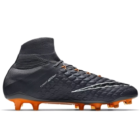 Nike Hypervenom Phantom III Elite DF FG Soccer Cleats (Dark Grey/Total Orange/White)