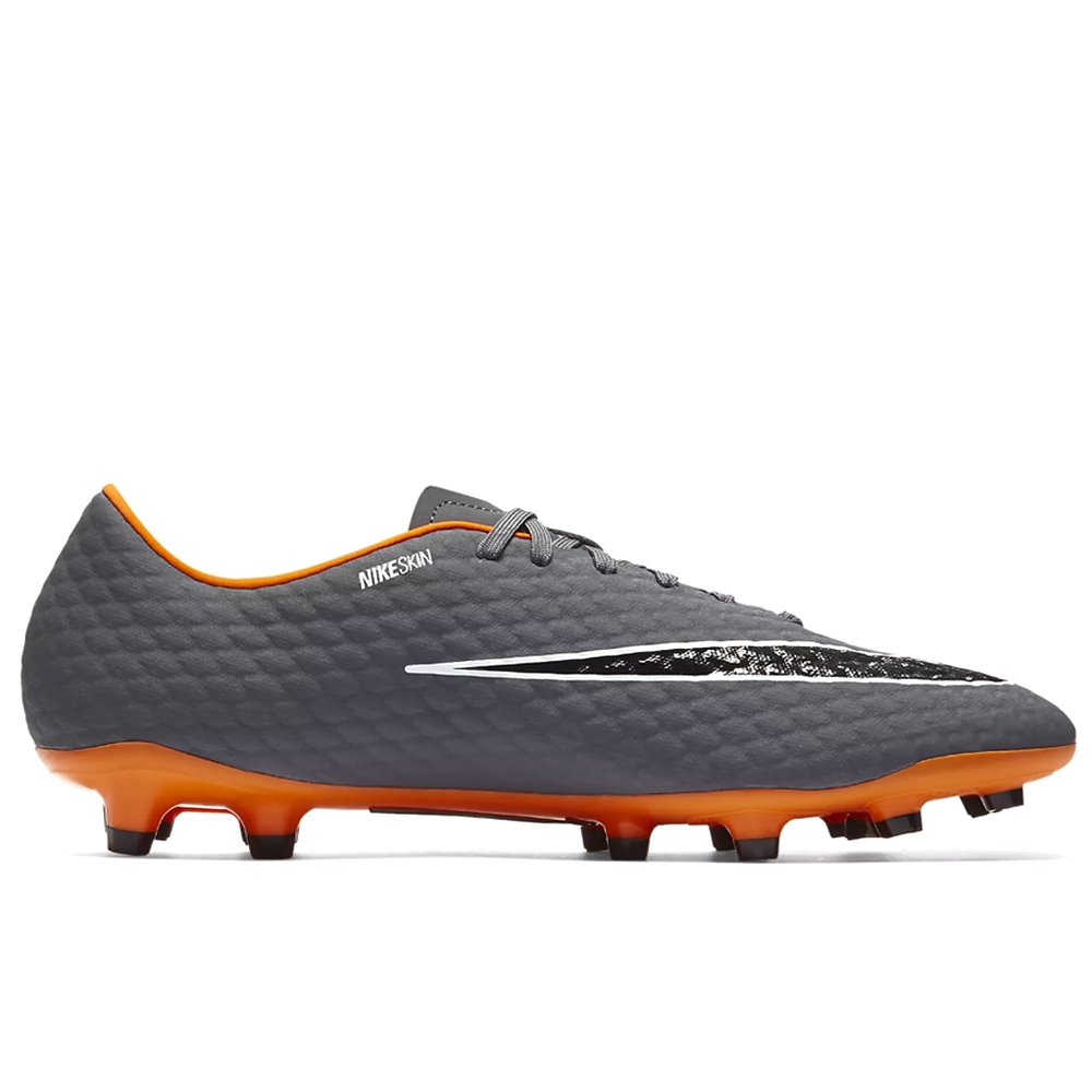 save off 46a90 12ea2 Nike Hypervenom Phantom III Academy FG Soccer Cleats (Dark Grey/Total  Orange/White)