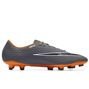 Nike Hypervenom Phantom III Academy FG Soccer Cleats (Dark Grey/Total Orange/White)
