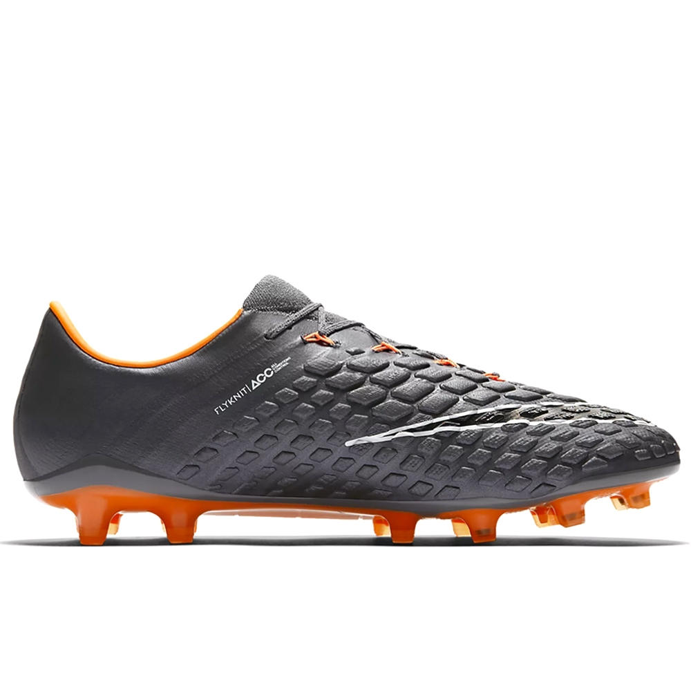 Nike Hypervenom Phantom III Elite FG Soccer Cleats (Dark Grey/Total  Orange/White)