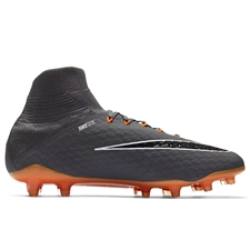 Nike Hypervenom Phantom III Pro DF FG Soccer Cleats (Dark Grey/Total Orange/White)