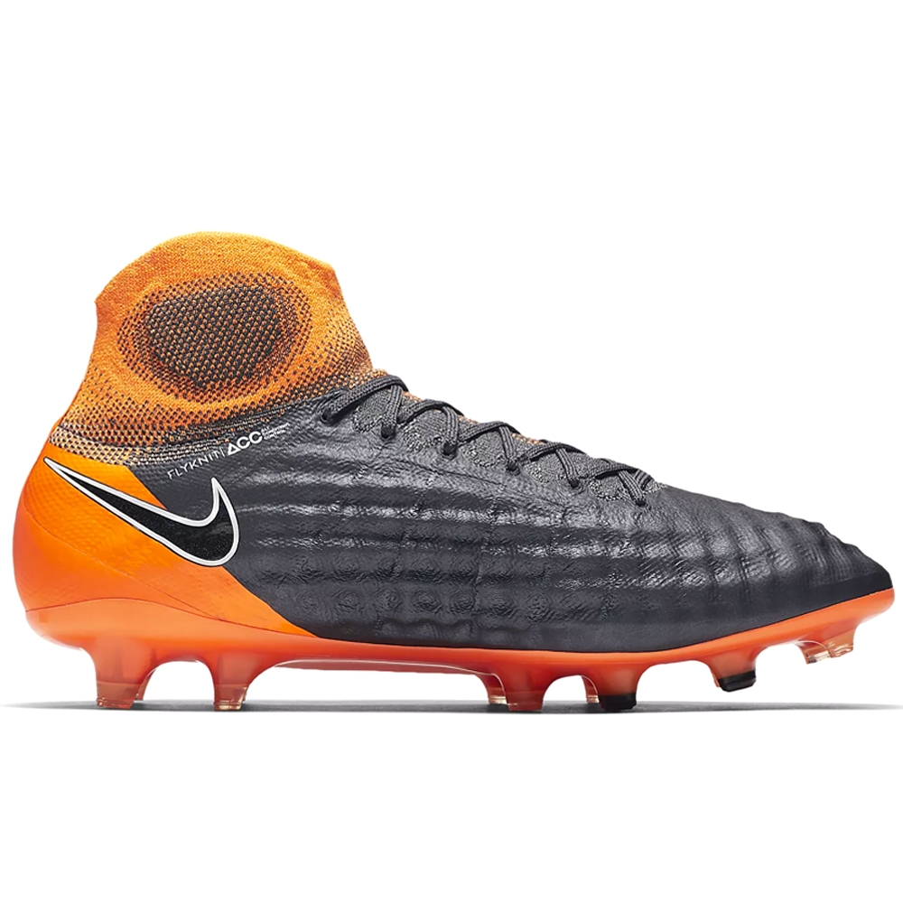 Nike Magista Obra II Elite DF FG Soccer Cleats (Dark Grey/Black/Total  Orange/White)