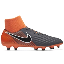 Nike Magista Obra II Academy DF FG Soccer Cleats (Dark Grey/Black/Total Orange/White)