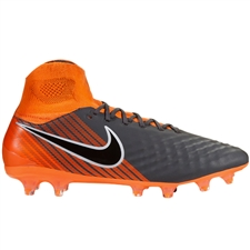 Nike Magista Obra II Pro DF FG Soccer Cleats (Dark Grey/Black/Total Orange/White)