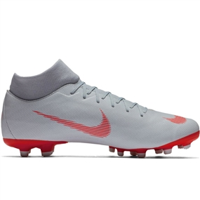 Nike Superfly VI Academy MG Soccer Cleats (Wolf Grey/Light Crimson/Pure Platinum)