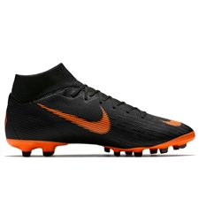 Nike Mercurial Superfly VI Academy FG / MG Soccer Cleats (Black/Total Orange/White)
