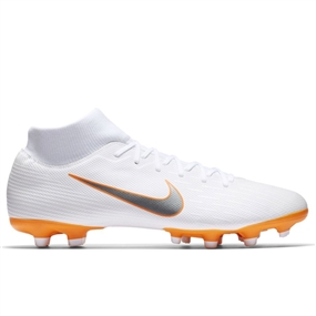Nike Superfly VI Academy MG Soccer Cleats (White/Metallic Cool Grey/Total Orange)