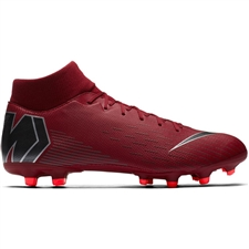 Nike Superfly VI Academy MG Soccer Cleats (Team Red/Metallic Dark Grey/Bright Crimson)