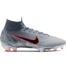 Nike Superfly 6 Elite FG Soccer Cleats (Wolf Grey/Black/Armory Blue)