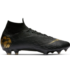 Nike Superfly 6 Elite FG Soccer Cleats (Black/Metallic Vivid Gold)