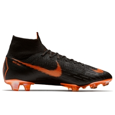 Nike Mercurial Superfly VI Elite FG Soccer Cleats (Black/Total Orange/White)
