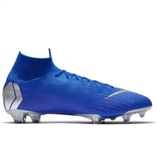 Nike Superfly 6 Elite FG Soccer Cleats (Racer Blue/Metallic Silver/Black)