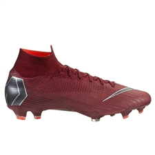 Nike Superfly VI Elite FG Soccer Cleats (Team Red/Metallic Dark Grey/Bright Crimson)