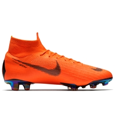 Nike Mercurial Superfly VI Elite FG Soccer Cleats (Total Orange/Black/Volt)