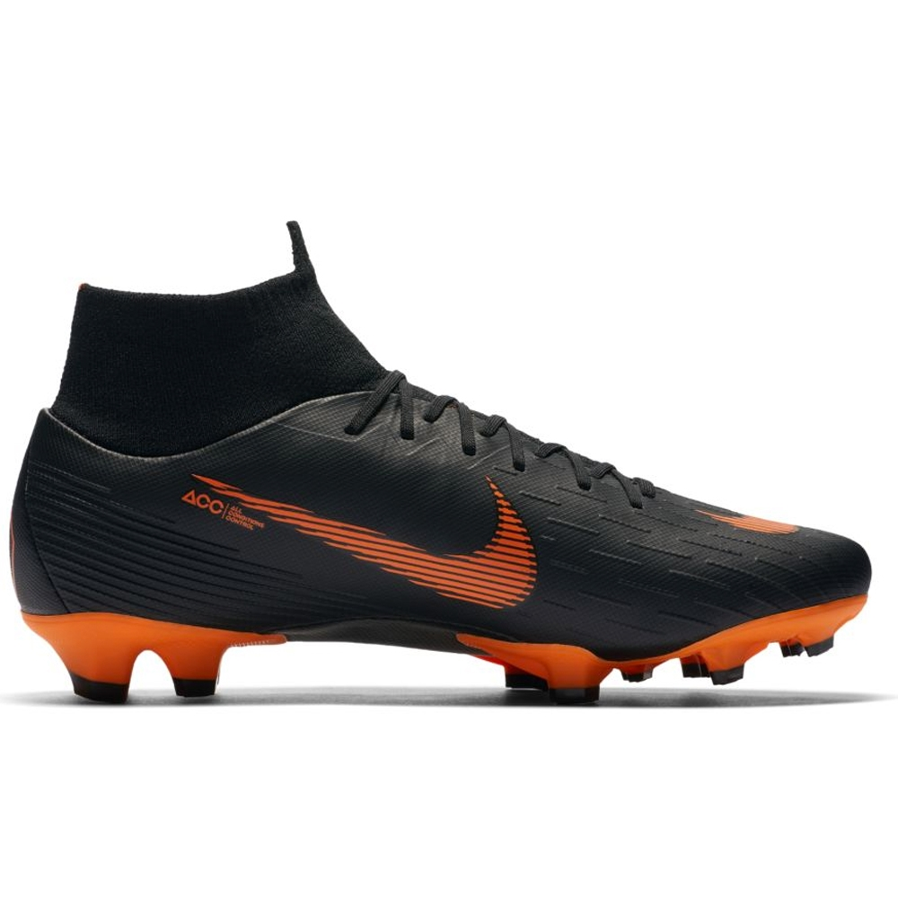 buy online 7ccc7 ceb58 Nike Mercurial Superfly VI Pro FG Soccer Cleats (Black/Total Orange/White)