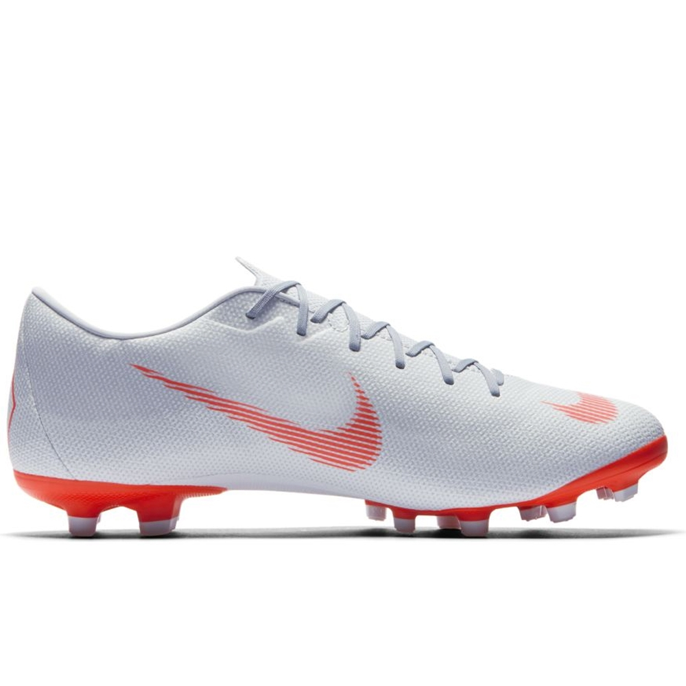 Nike Vapor XII Academy MG Soccer Cleats (Wolf Grey Bright Crimson ... ade84a316870