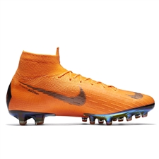 Nike Mercurial Superfly VI Elite AG-Pro Soccer Cleats (Total Orange/Black/Volt)