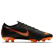 Nike Mercurial Vapor XII Elite FG Soccer Cleats (Black/Total Orange/White)
