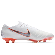 Nike Vapor XII Elite FG Soccer Cleats (White/Metallic Cool Grey/Total Orange)