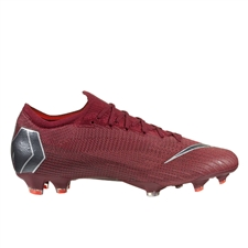 Nike Vapor XII Elite FG Soccer Cleats (Team Red/Metallic Dark Grey/Bright Crimson)