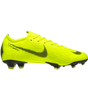 Nike Vapor 12 Elite FG Soccer Cleats (Volt/Black)