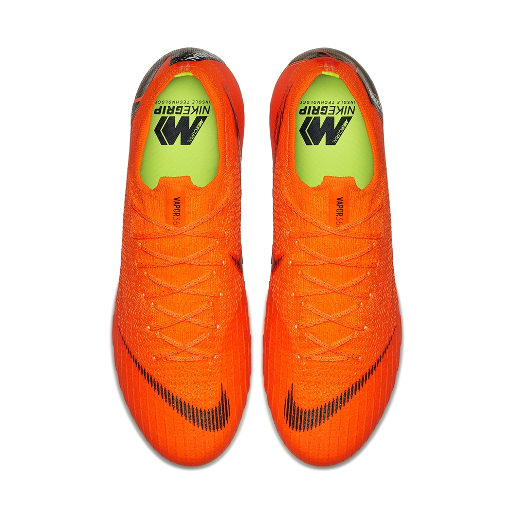 Nike Mercurial Vapor XII Elite FG Soccer Cleats (Total Orange Black Volt) 3558cfeba