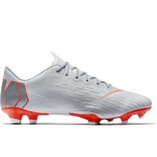 Nike Vapor XII Pro FG Soccer Cleats (Wolf Grey/Light Crimson/Pure Platinum)