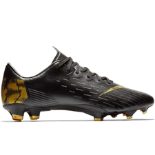 Nike Vapor 12 Pro FG Soccer Cleats (Black/Metallic Vivid Gold)