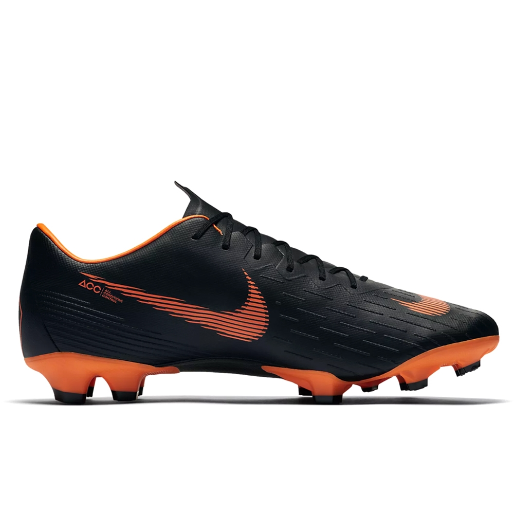 95385f121 Nike Mercurial Vapor XII Pro FG Soccer Cleats (Black/Total Orange ...