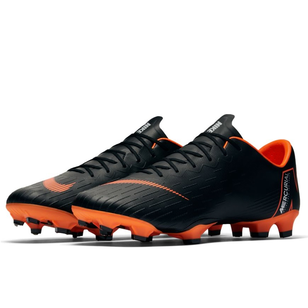 a7b3d4cad Nike Mercurial Vapor XII Pro FG Soccer Cleats (Black Total Orange White)