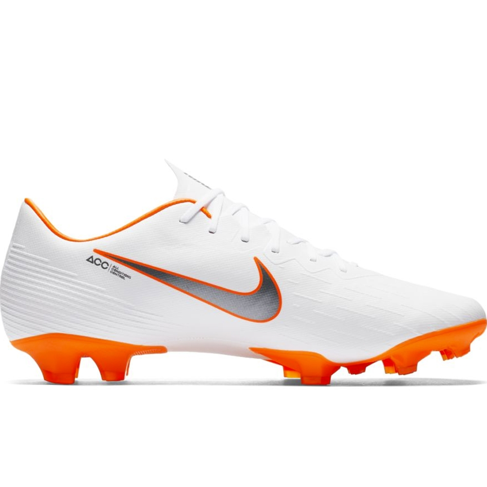 511f78acb6d Nike Vapor XII Pro FG Soccer Cleats (White Metallic Cool Grey Total ...