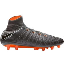 Nike Hypervenom Phantom III Elite DF AG-Pro Soccer Cleats (Dark Grey/Total Orange/White)