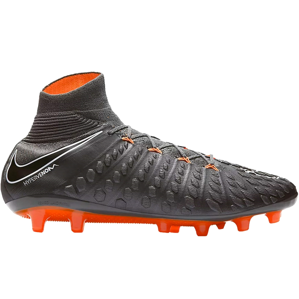hot sales 06076 6e160 Nike Hypervenom Phantom III Elite DF AG-Pro Soccer Cleats (Dark Grey/Total  Orange/White)