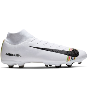 Nike Superfly 6 Academy MG Soccer Cleats (White/Black/Pure Platinum)