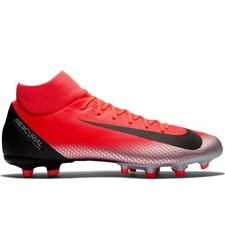 Nike Superfly VI Academy CR7 MG Soccer Cleats (Bright Crimson/Black/Chrome/Dark Grey)