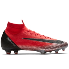 Nike Superfly VI Elite CR7 FG Soccer Cleats (Flash Crimson/Black/Total Crimson)