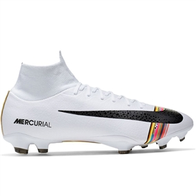 Nike Superfly 6 Pro FG Soccer Cleats (Pure Platinum/Black/White)